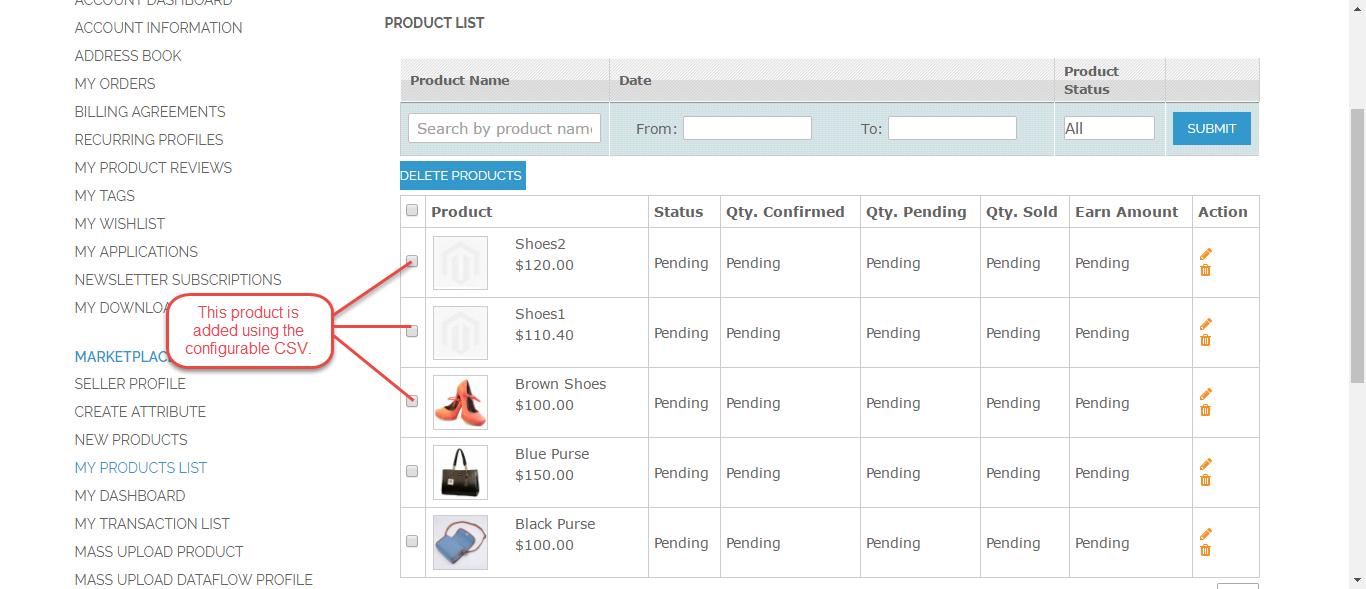 webkul-magento2-marketplace-mass-upload-product-list