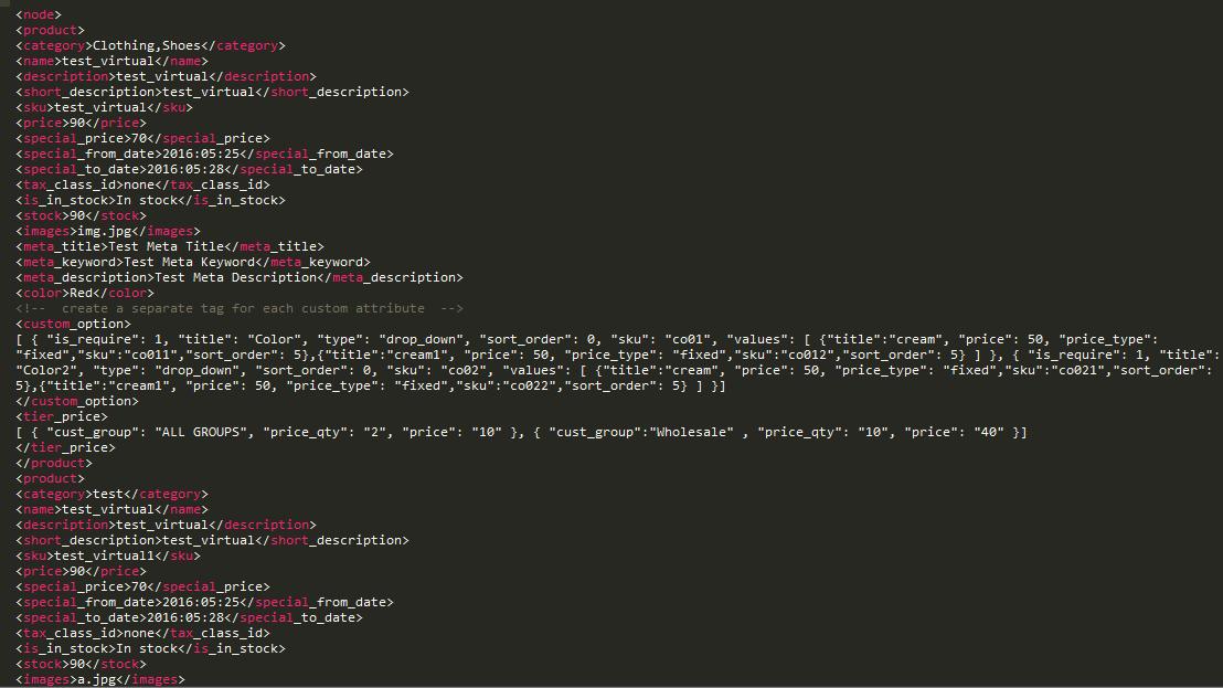 webkul-magento2-marketplace-mass-upload -XML-virtual product