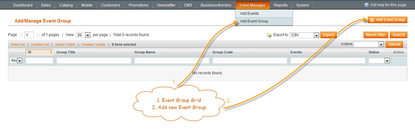 magento event manager