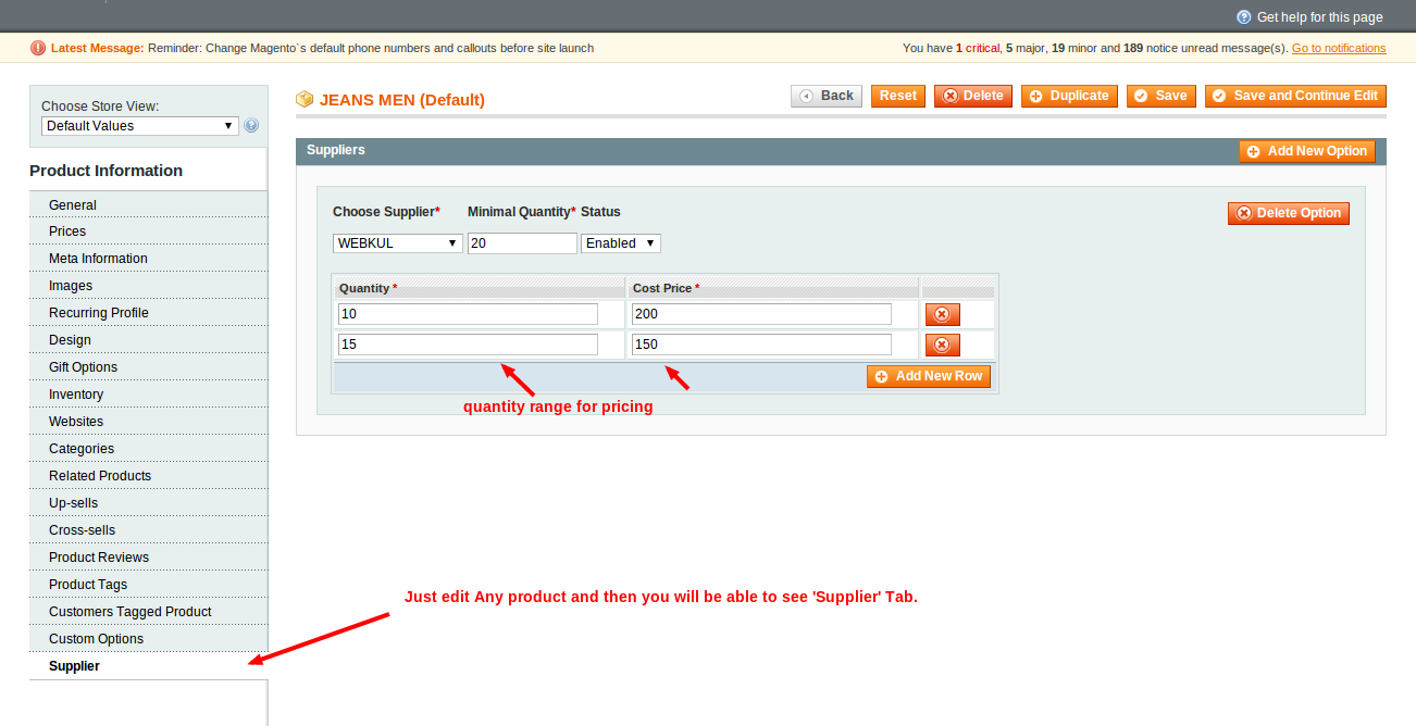 Manage Products Catalog Magento Admin