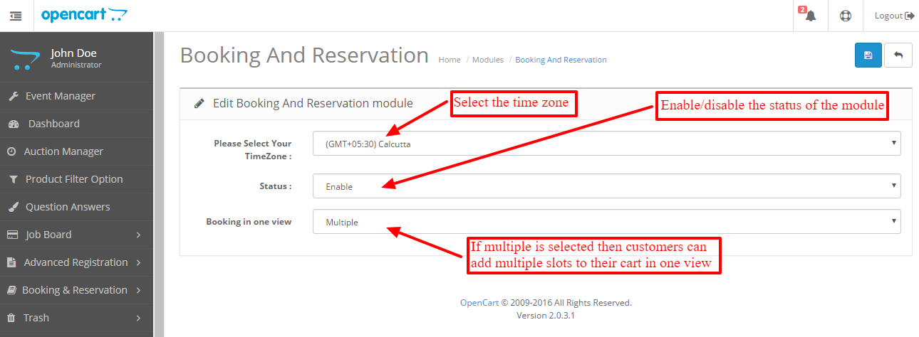 Opencart Booking And Reservation version 2 0 0 0