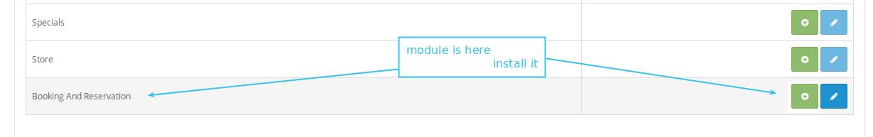 Module edit