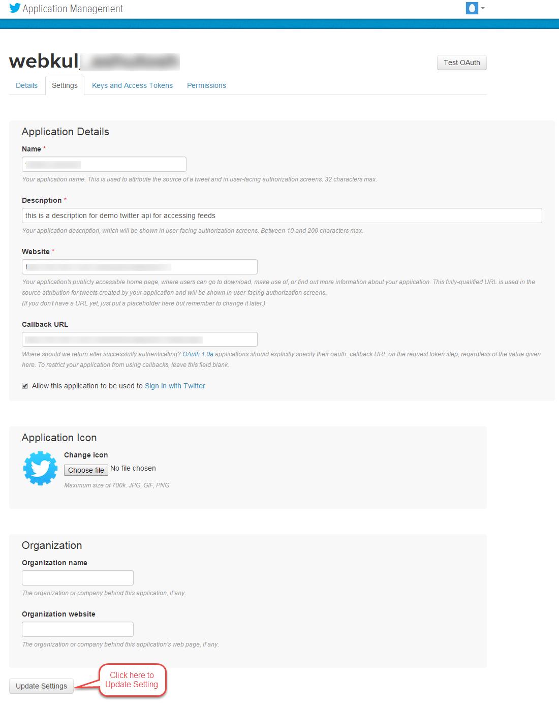 Twitter Create App 3