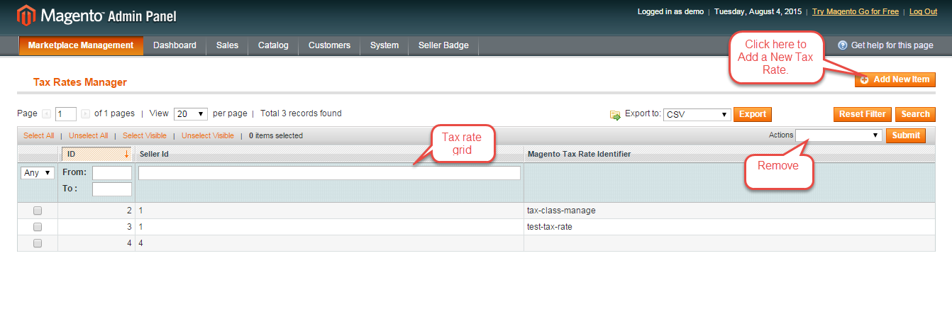 manage tax rate