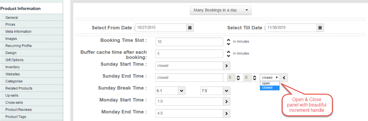 magento booking and reservation