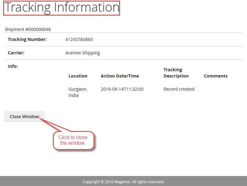 Magento2 Aramex Shipping