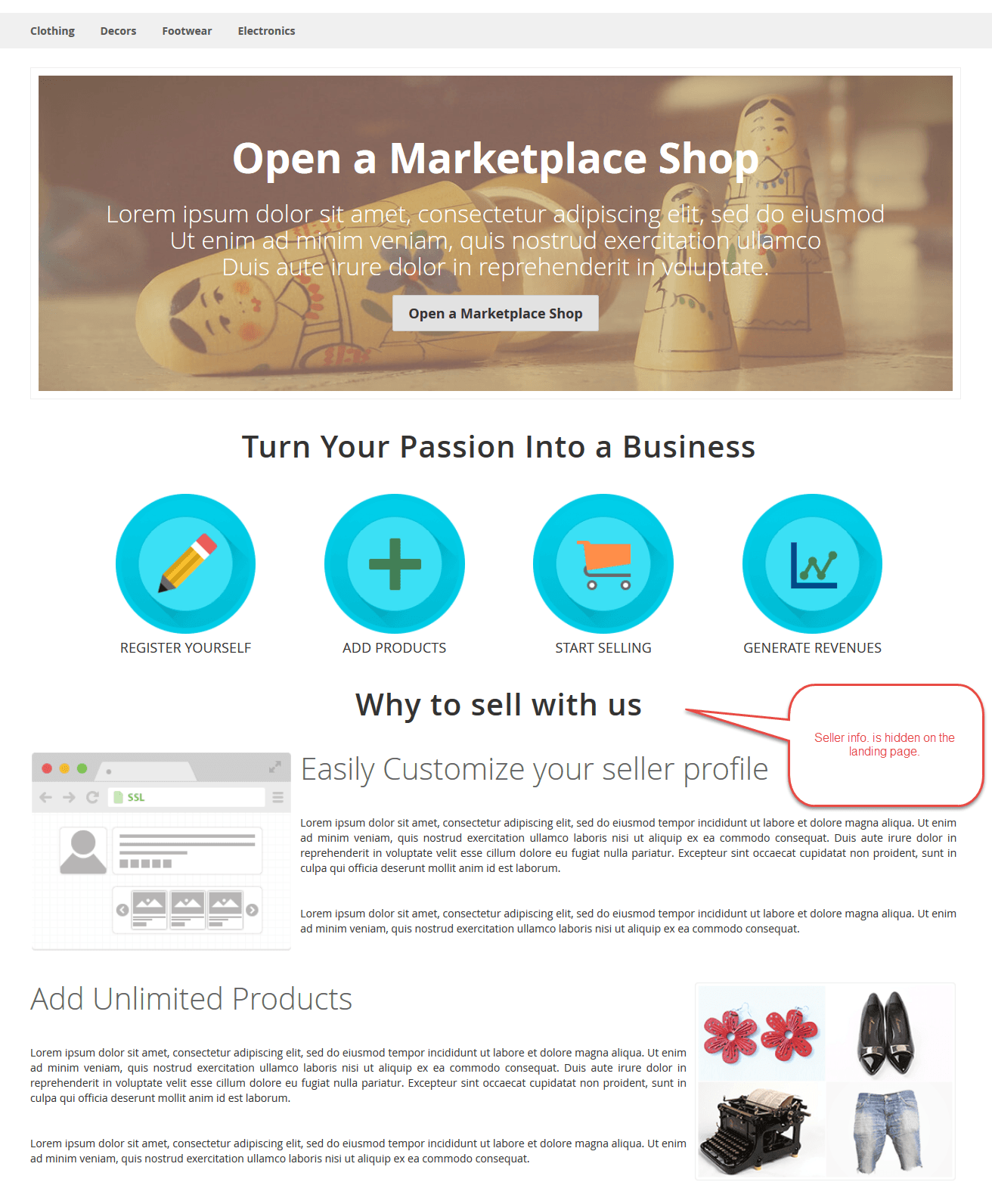 Display Seller Profile
