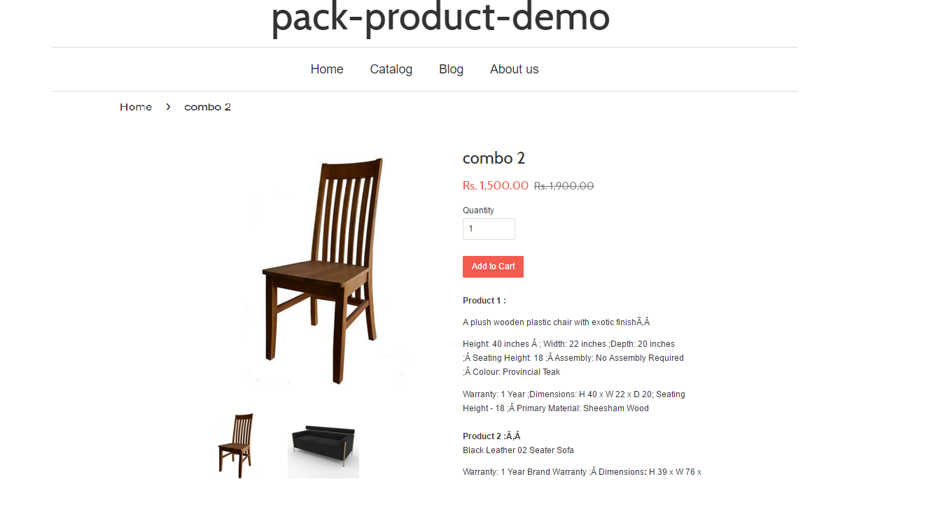 combo 2 – pack product demo