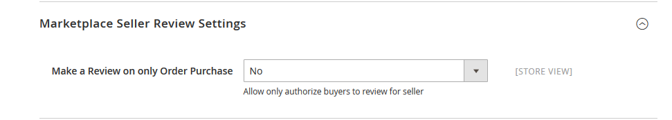 Marketplace Seller Review Settings