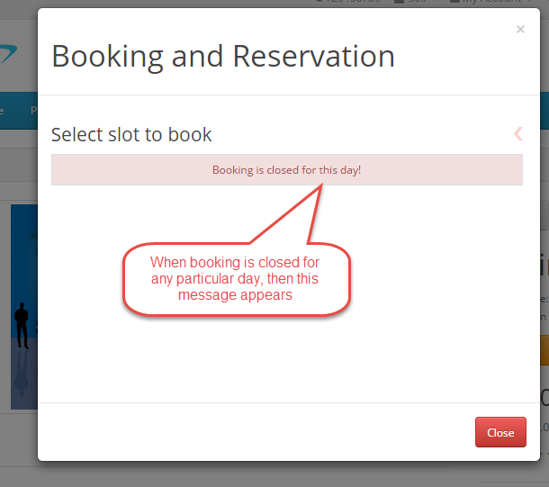 closed booking