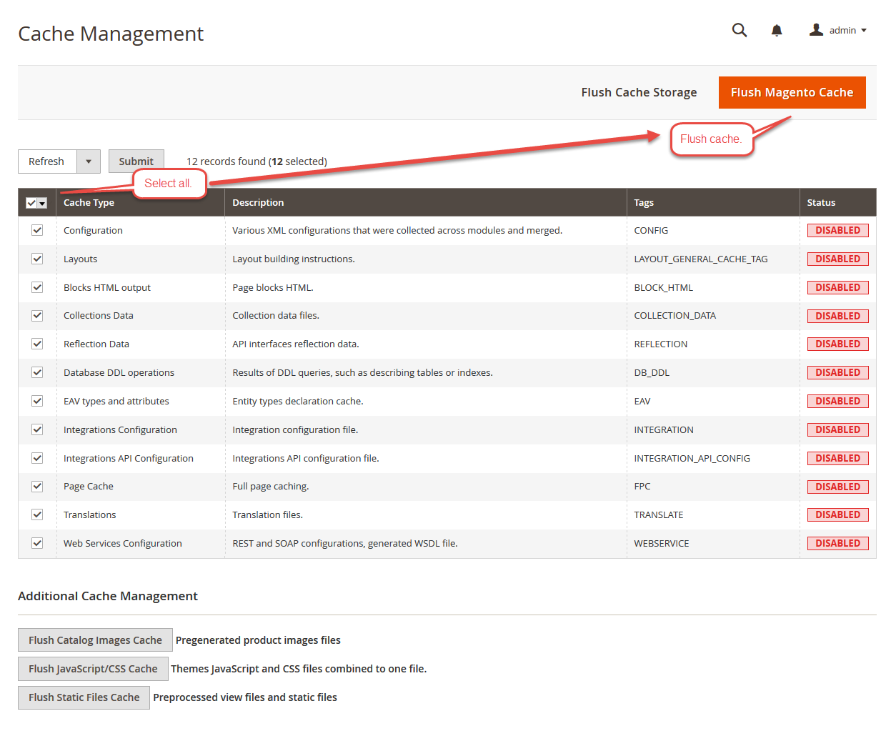 Marketplace Seller Groups for Magento 2_cache management