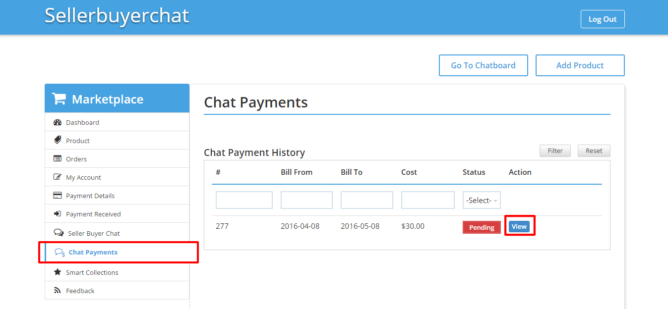 Chat Payments Seller • Multivendor MarketPlace