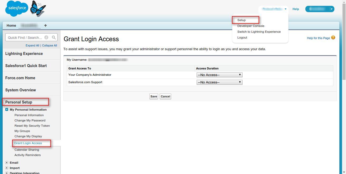 Salesforce login
