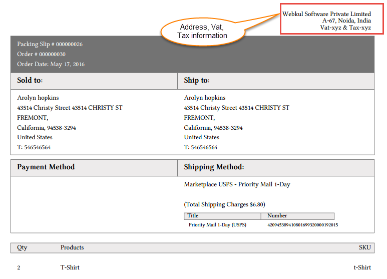 Marketplace USPS Shipping Management By Seller