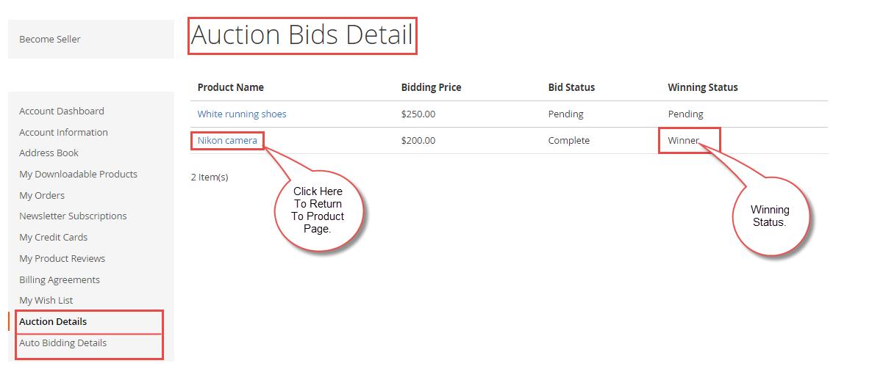 Auction details