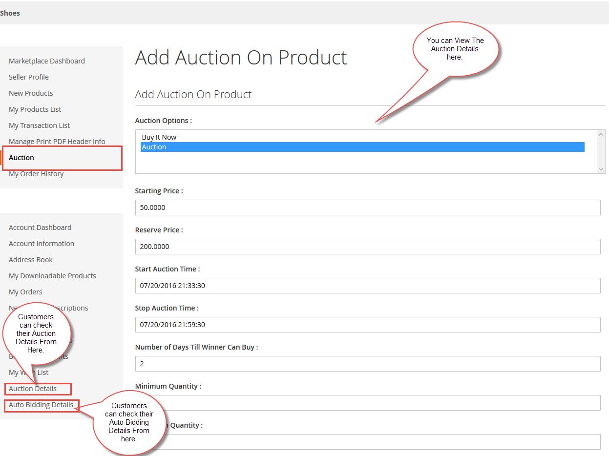 Auction Product List