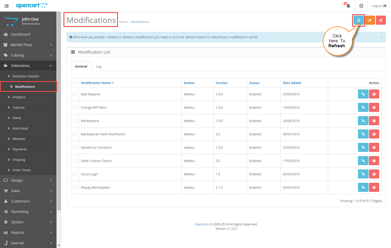 Modification Screenshot.