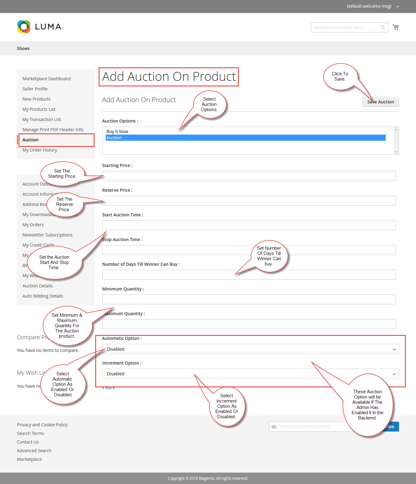 Seller add Auction