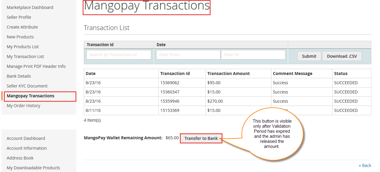 Workflow Of Marketplace MangoPay Payment Gateway For Magento2