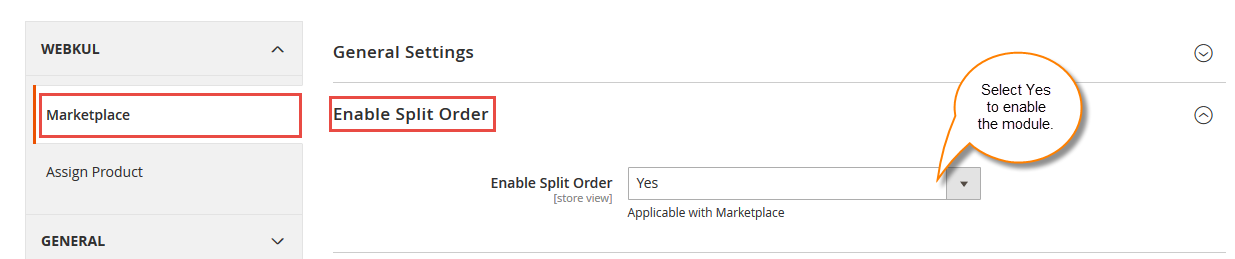 Configuration Of Marketplace Split cart For Magento2