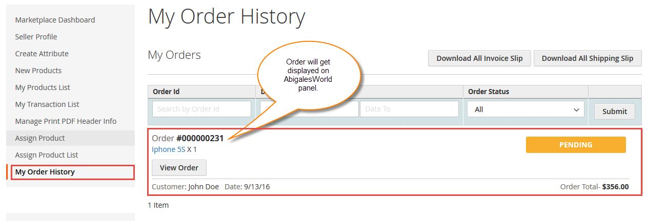 Workflow of Marketplace Split Order For Magento2