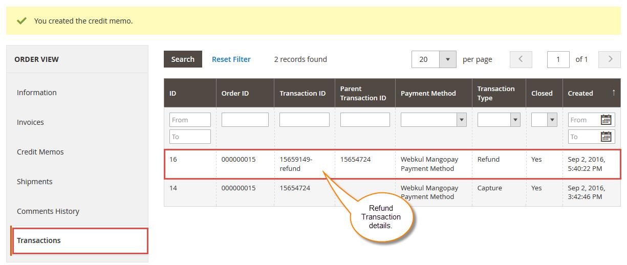 Refund Process In Magento2 MangoPay