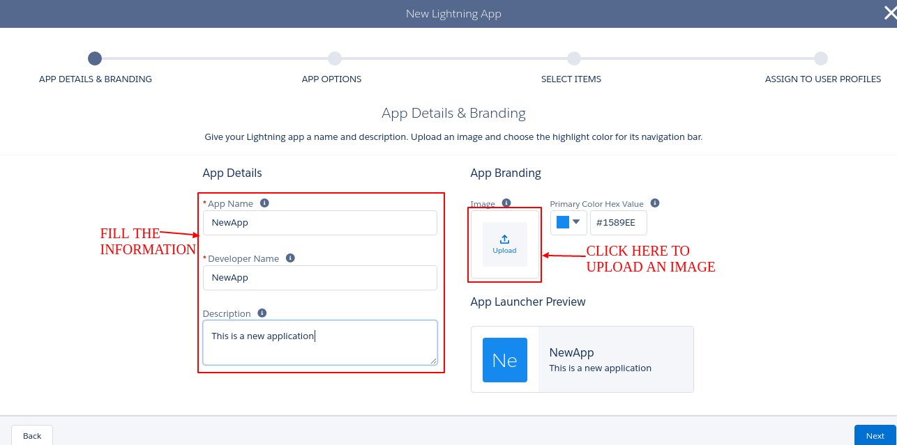 How to change default logo of an app in Lightning Experience