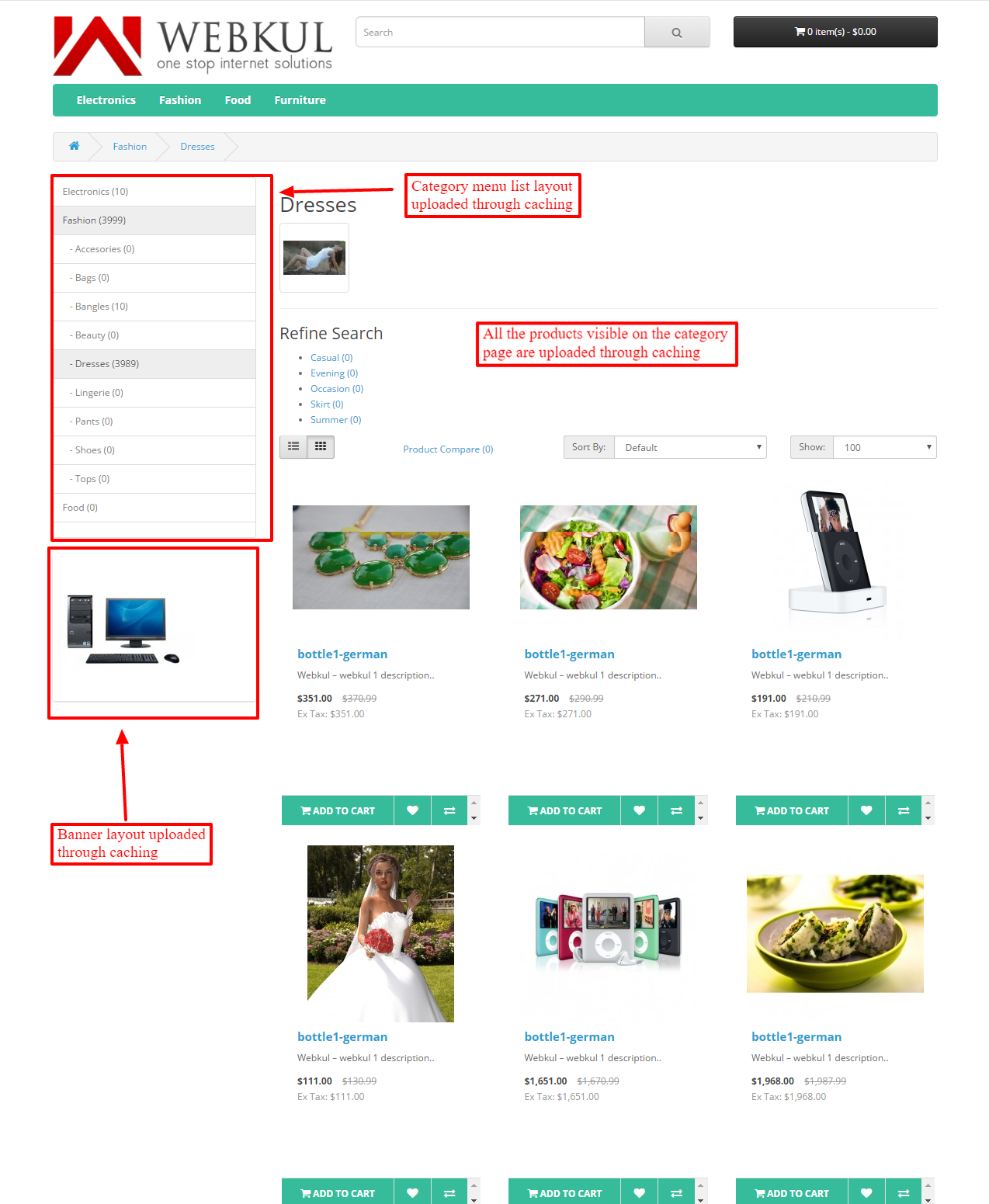 Opencart Cache System