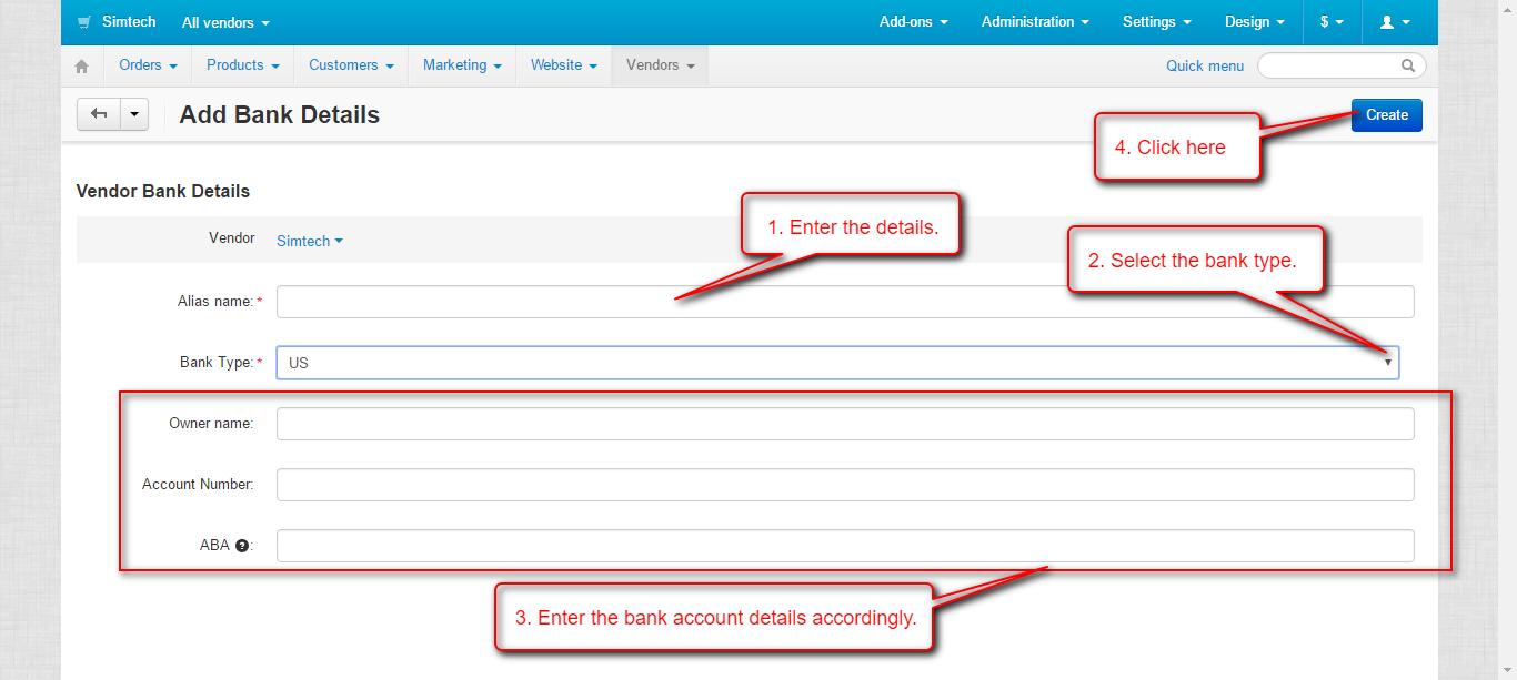 Bank details added