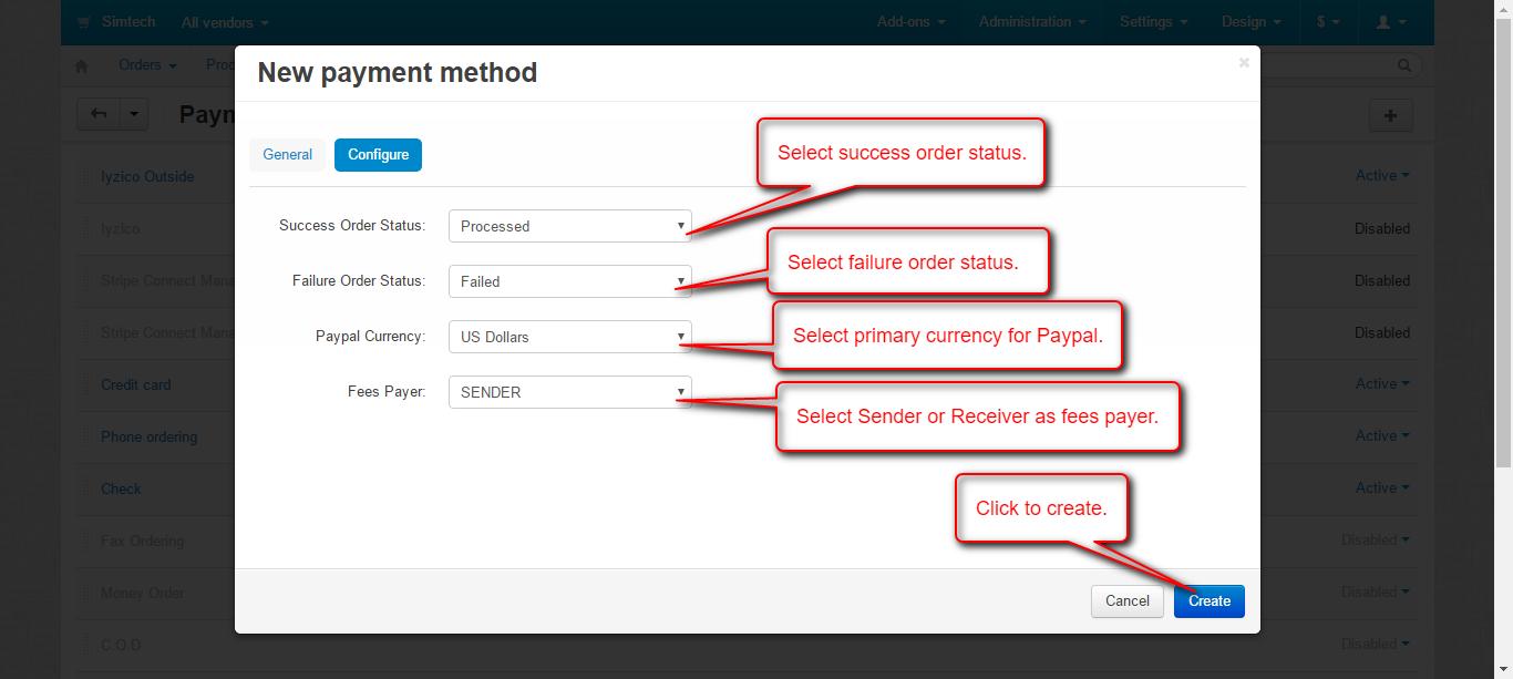 Configure adaptive payment