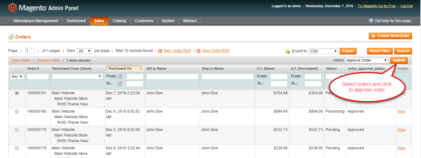 Magento Multi Seller Marketplace Updated Features