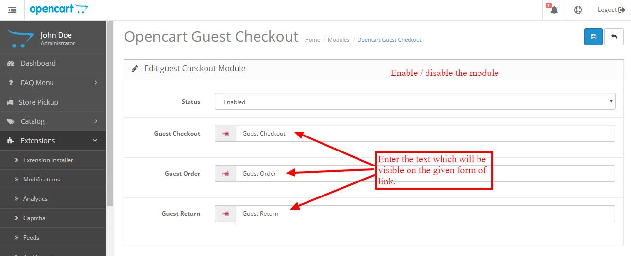 opencart-guest-checkout-configuration