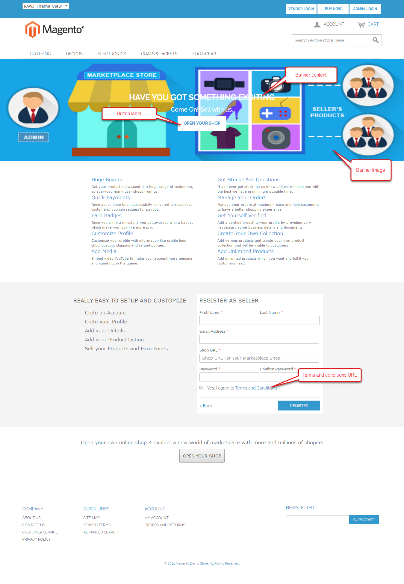 Magento Marketplace Seller Central