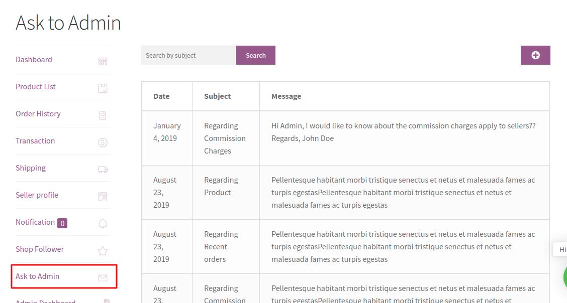 Wordpress WooCommerce Marketplace-ask-to-admin-1