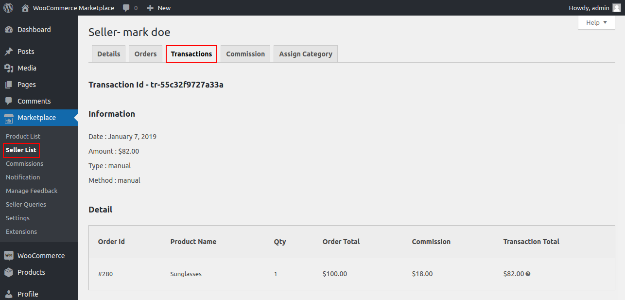 webkul-woocommerce-multi-vendor-marketplace-transaction-details