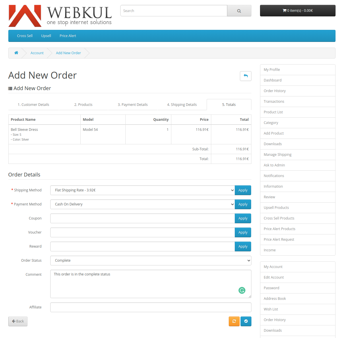Add-New-Order-shipping-details