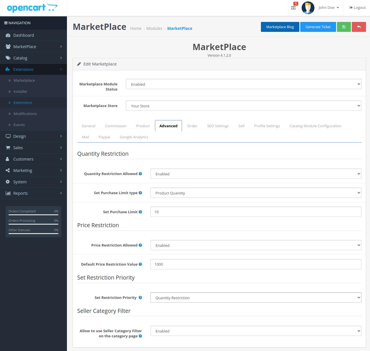 webkul-opencart-multi-vendor-marketplace-advanced-tab