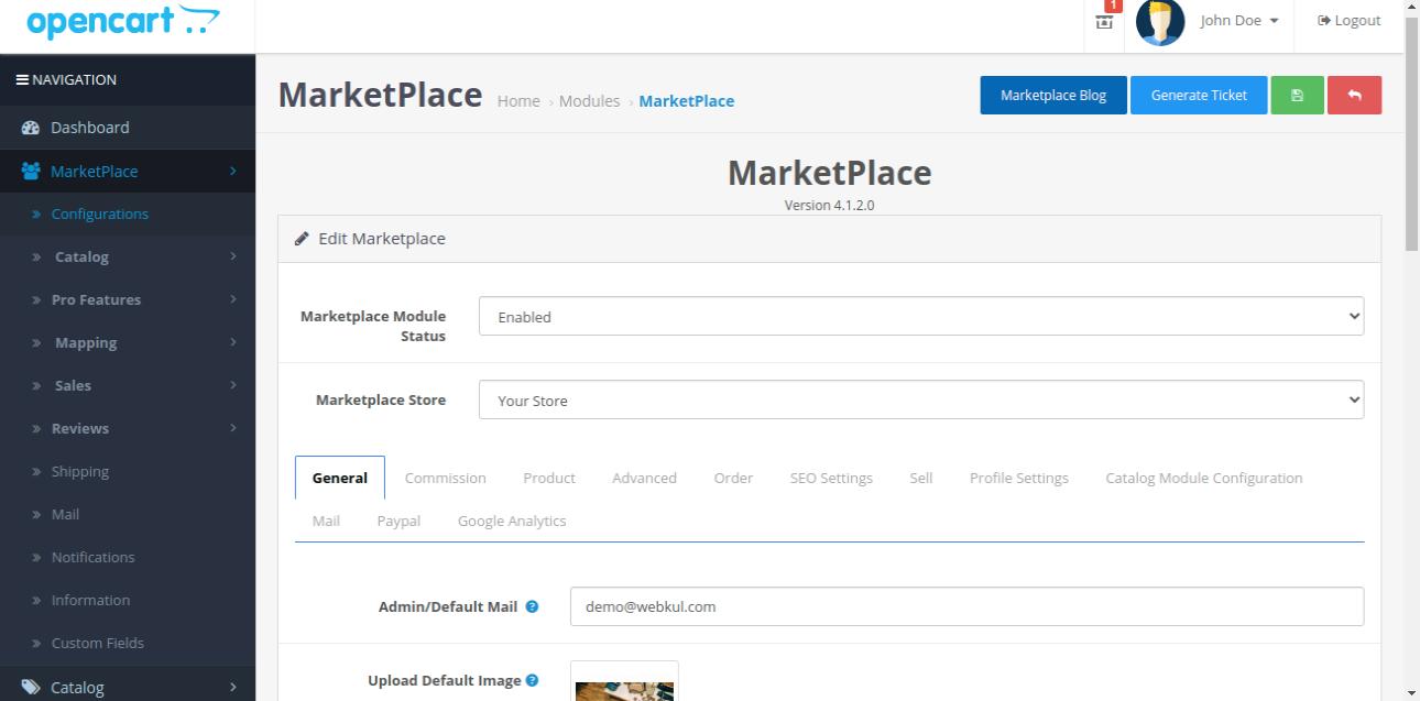 webkul-opencart-multi-vendor-marketplace-configurations-settings-tab-options