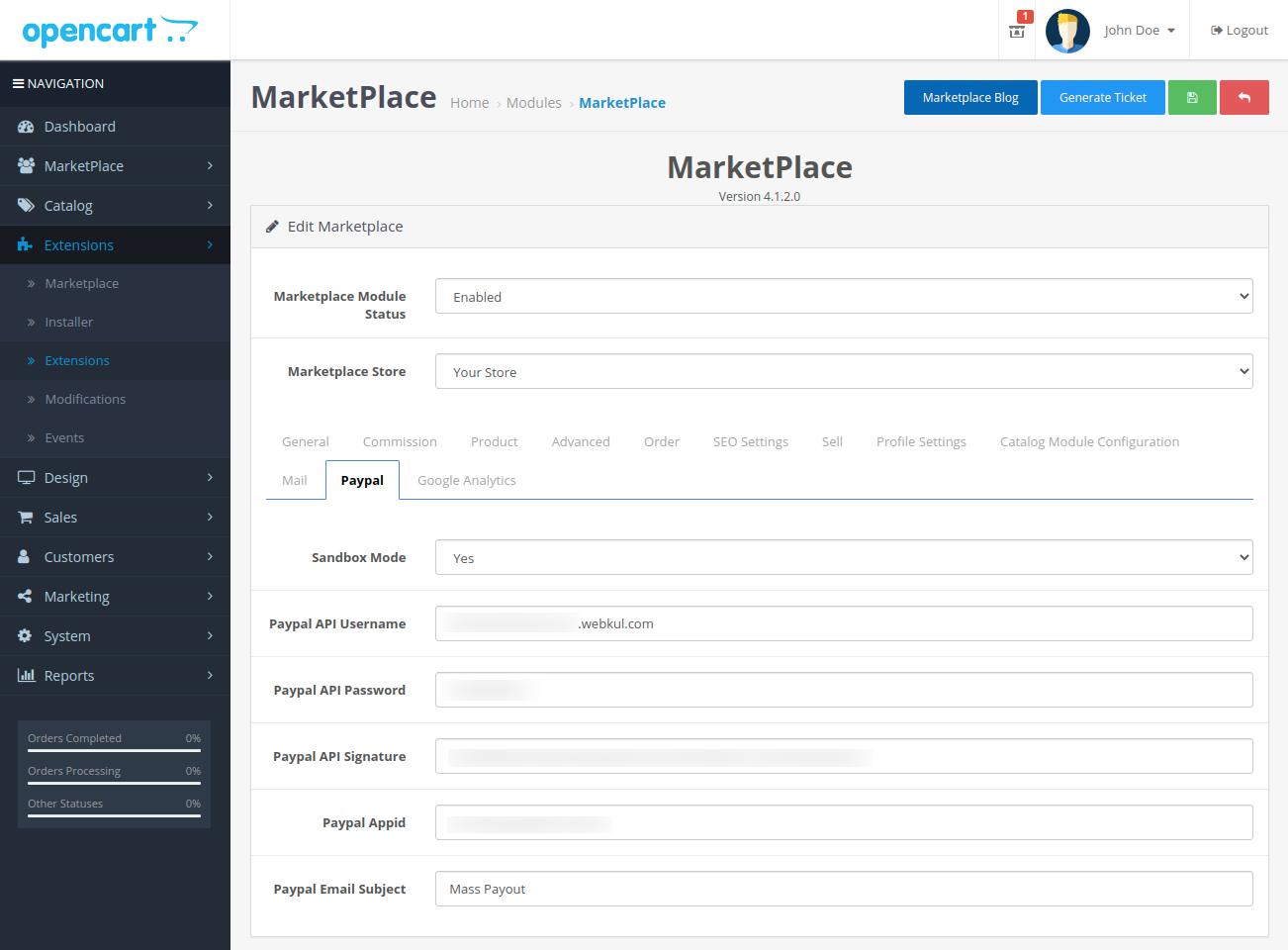 webkul-opencart-multi-vendor-marketplace-paypal-tab