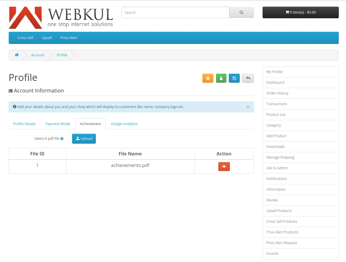 webkul-opencart-multi-vendor-marketplace-seller-end-achievement-option