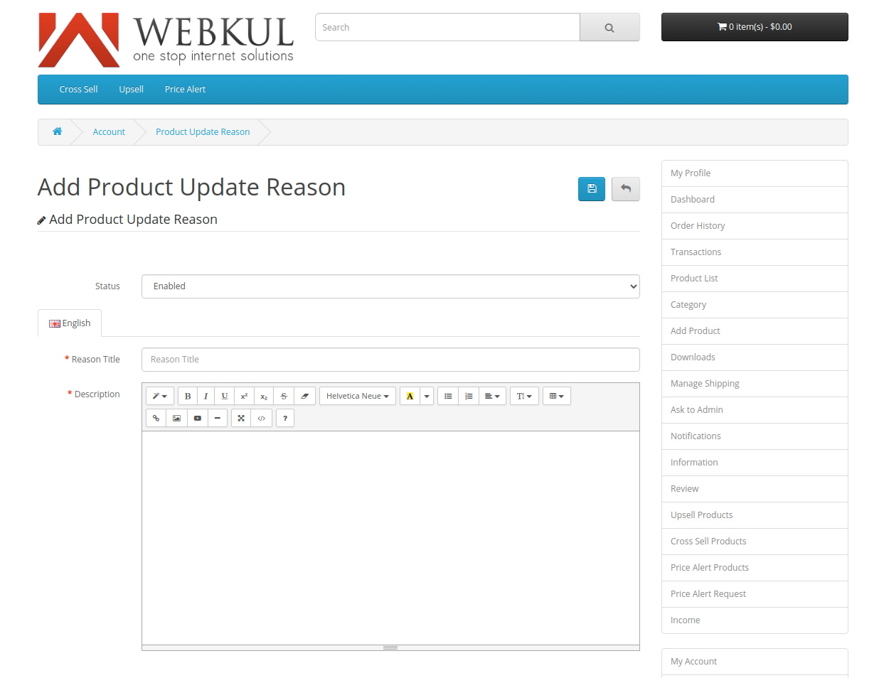 webkul-opencart-multi-vendor-marketplace-seller-end-add-product-reason