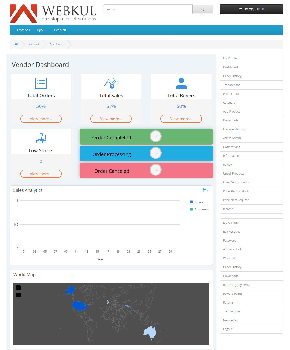 webkul-opencart-multi-vendor-marketplace-seller-end-dashboard