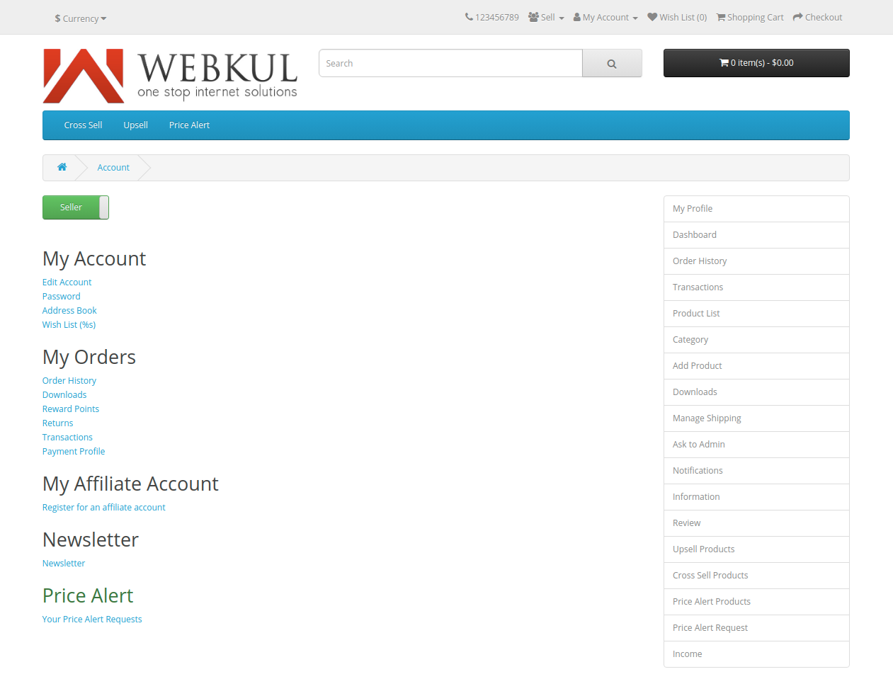 webkul-opencart-multi-vendor-marketplace-seller-end-options