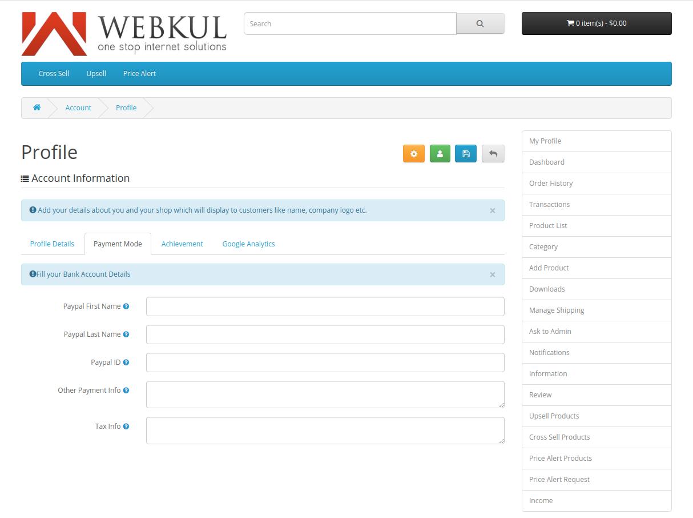 webkul-opencart-multi-vendor-marketplace-seller-end-payment-mode-option