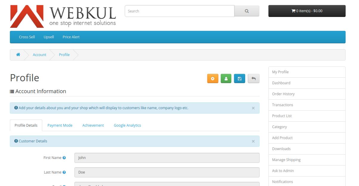 webkul-opencart-multi-vendor-marketplace-seller-end-profile-details