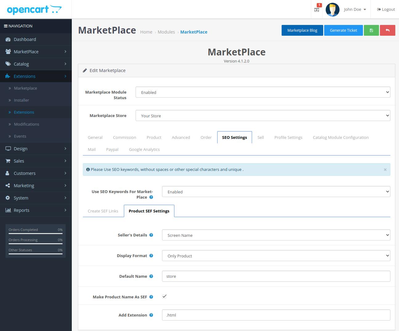webkul-opencart-multi-vendor-marketplace-seo-settings-product-sef-tab