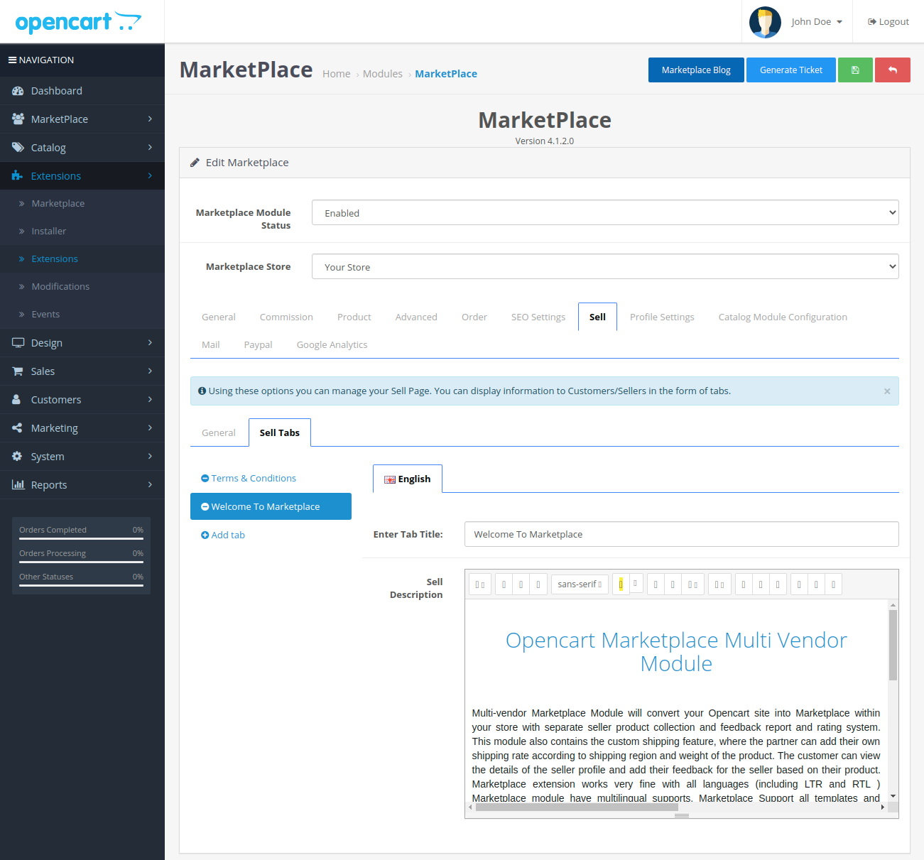 webkul-opencart-multi-vendor-marketplace-welcome-to-marketplace-section-sell-tab