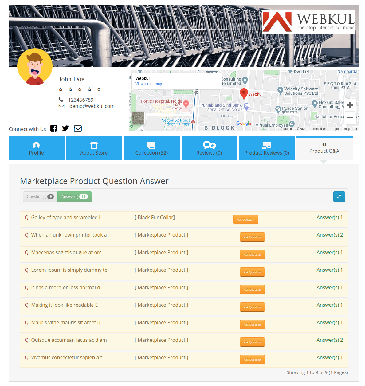 webkul-opencart-marketplace-product-question-and-answer-seller-profile-page