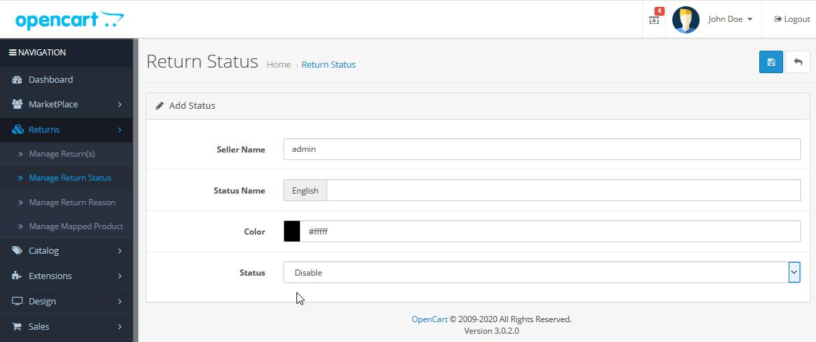 webkul_opencart_marketplace_rma_add_return_status