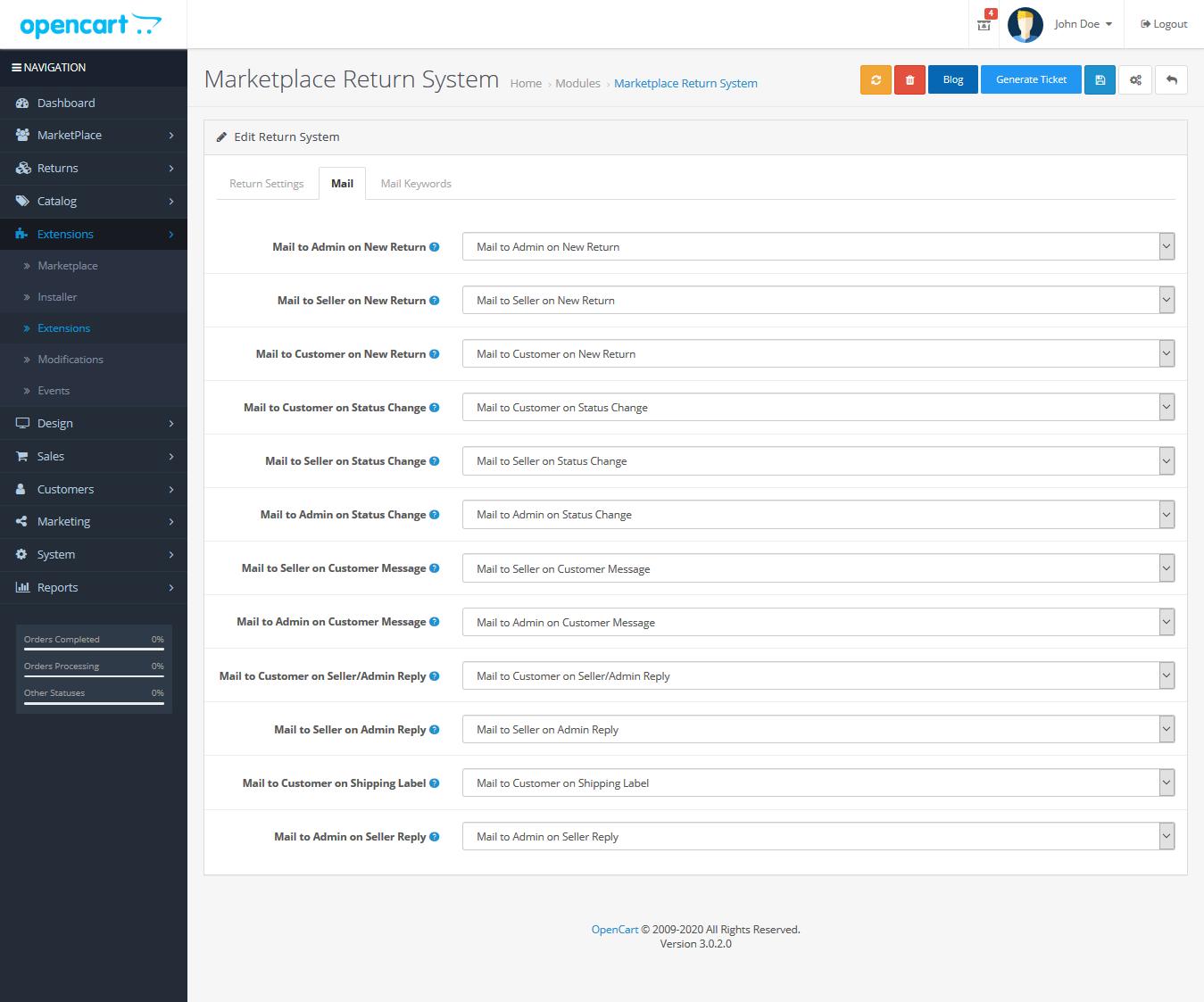 webkul_opencart_marketplace_rma_mail_configuration_settings